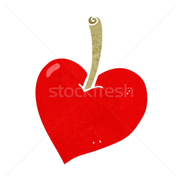 Download cartoon love heart apple vector illustration ...