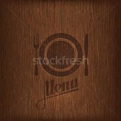 restaurant menu design on wood background vector illustration © Maksim Harshchankou maximmmmum #4986138 Stockfresh