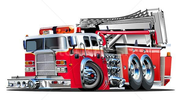 Vector Cartoon Fire Truck Vector Illustration C Mechanik 2761319 Stockfresh