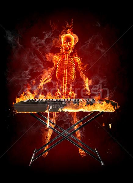 Wallpaper Hd Portrait Orientation Fire Skeleton Stock Photo 169 Misha 141503 Stockfresh