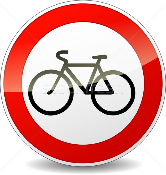 bicycle sign vector illustration