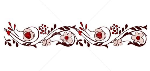 horizontal border flores flowers borde seamless bordure fleurs vector fiori horizontale transparente estilizado bonito avec sans borda nurrka stockfresh vetor