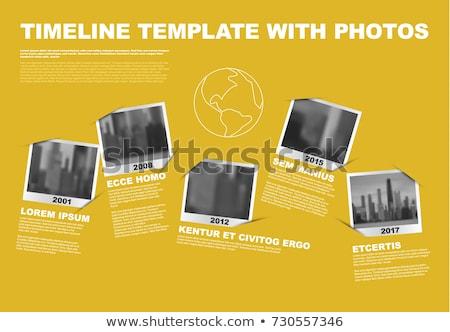 Infographic Company Milestones Timeline Template vector illustration ...