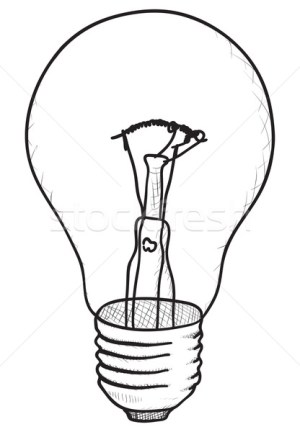 bulb sketch simple vector drawing drawings technical lamp illustration stockfresh sketches draw lighting pzaxe bulbs alexey romanov monochrome eps8 cool