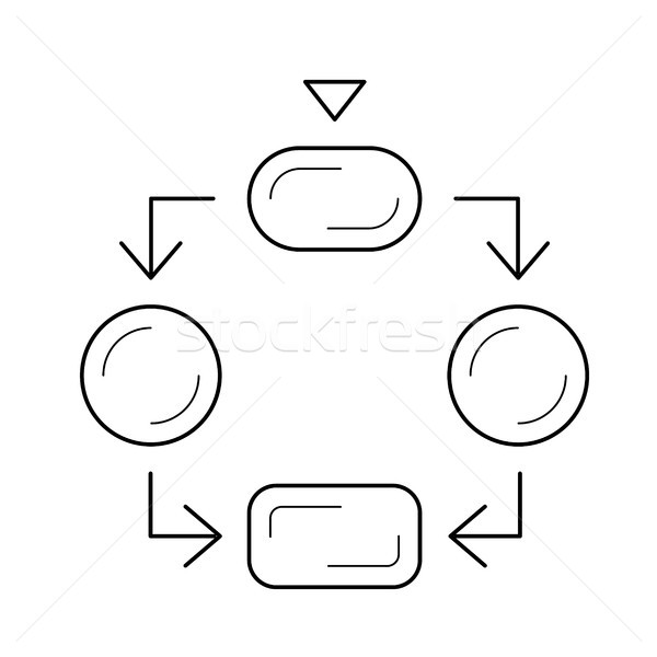 Flowchart icon Stock Vectors, Illustrations and Cliparts