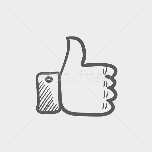Croquis · icône · web · mobiles · dessinés · à · la · main