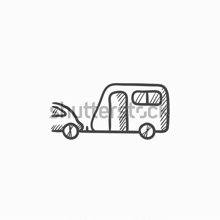 Caravan camping Stock Photos, Stock Images and Vectors