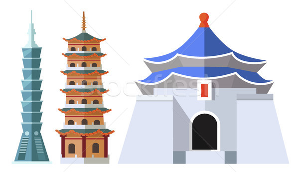 101 · 建築物 · 建築的 · 採集 · 孤立 - 插圖 © robuart (#8855744)   Stockfresh