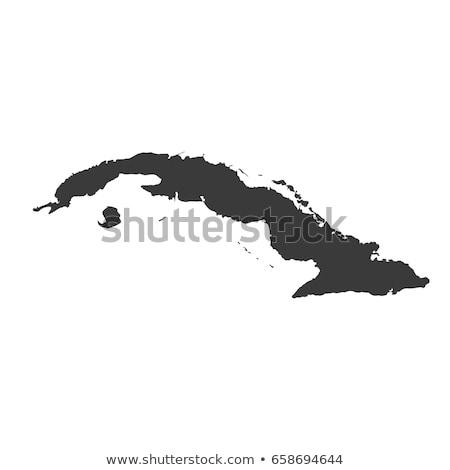 Map of Cuba vector illustration © Steffen Hammer