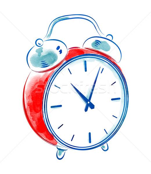 Vintage alarm clock. stock photo © Sofya Golovanova (Sonya_illustrations) (#6000962)   Stockfresh