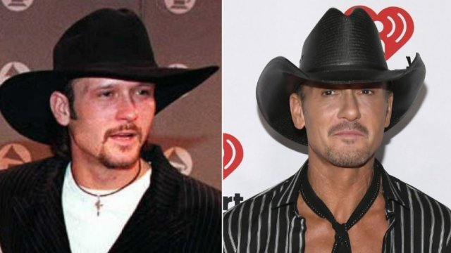 star country Tim McGraw then and now
