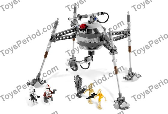 LEGO 7681 Separatist Spider Droid Set Parts Inventory and