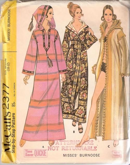 1970s burnoose pattern - McCall's 2377