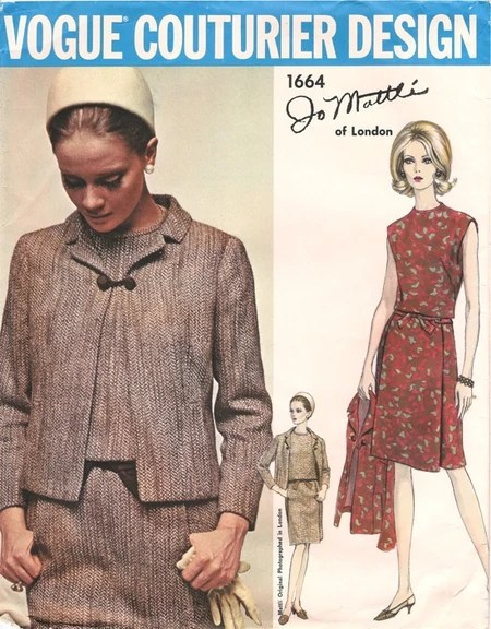 1960s Jo Mattli suit pattern - Vogue 1664
