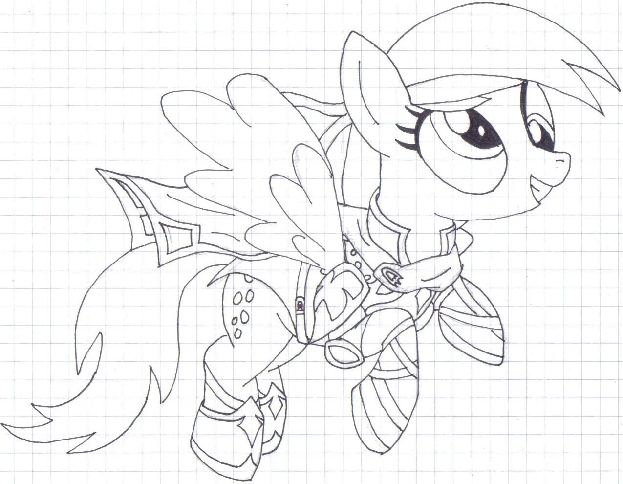 My Little Pony Derpy Hooves Coloring Pages Bltidm