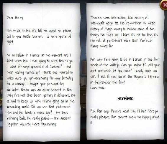 Hermione Granger's Letter To Harry Potter 1993 Harry