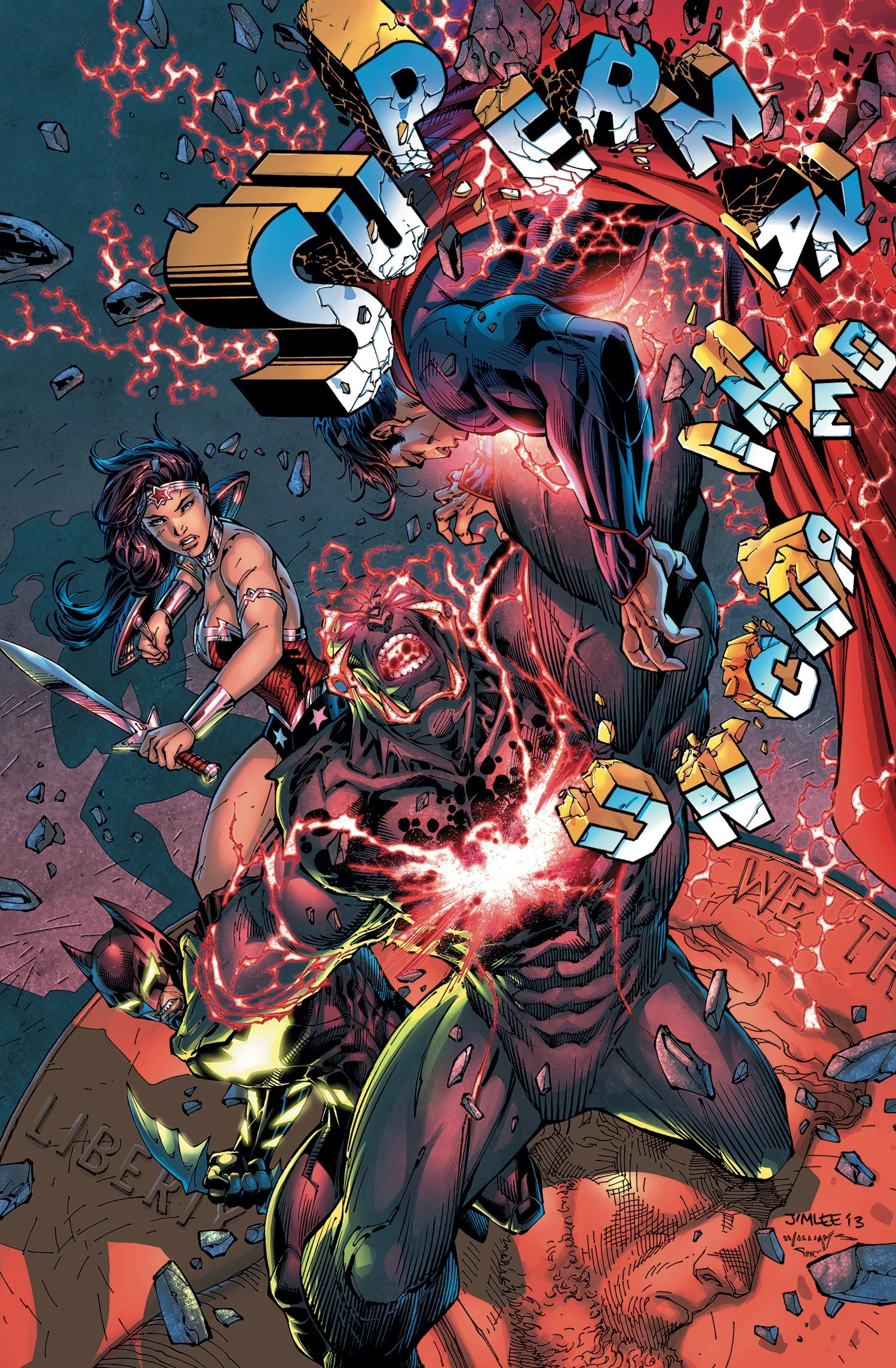 Superman Unchained #7 Cover by Jim Lee