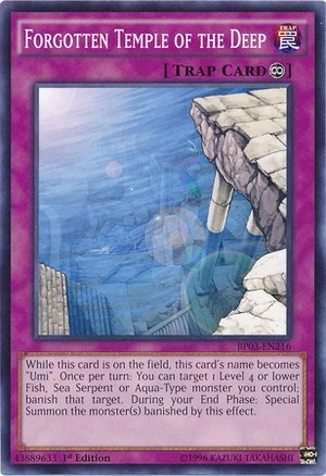 Forgotten Temple of the Deep  YuGiOh
