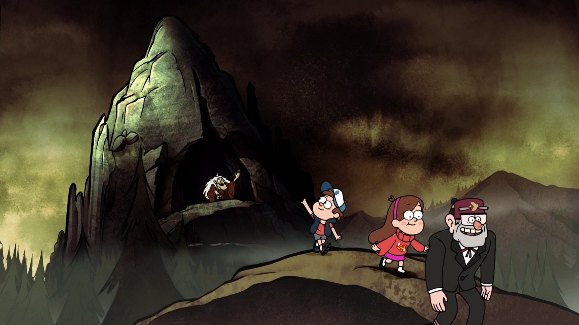 Gravity Falls Wallpaper Bill Hand Witch Mountain Gravity Falls Wiki Wikia