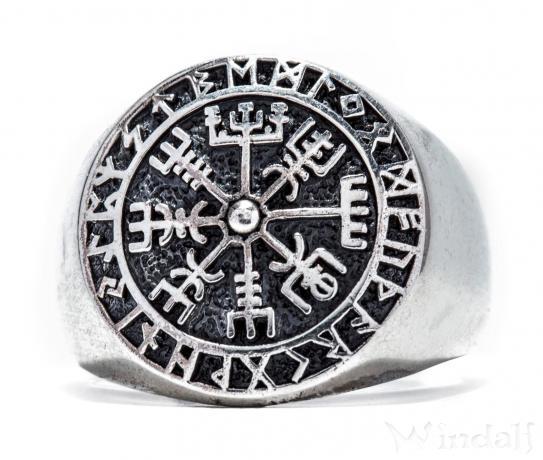 Runen Vikings Ring  VEGVESIR  18 cm  Wikinger Lebens