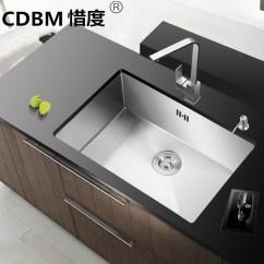60 40 Kitchen Sink Standard Size Cdbm惜度304不锈钢手工水槽单槽套装含方形龙头45 55 45 80 商品名称 800 450 210mm 商品编号 29647561184 商品毛重 13 0kg 商品产地 中国大陆