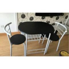 Black Kitchen Table And Chairs Home Depot Countertops Laminate 厨房桌椅 型号 厨房桌椅型号 规格 京东 京东优选 餐桌椅组合可折叠情侣餐桌椅组合