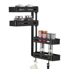 Carousel Kitchen Utensil Holder Appliance Bundle 可旋转层架 价格 可旋转层架报价行情 多少钱 京东 限时特惠 厨房壁挂式置物架免打孔太空铝省空间