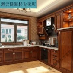 Rustic Kitchen Cabinet Average Size Of Sink 美式乡村橱柜 新款 美式乡村橱柜2019年新款 京东 梵禾厨房橱柜定做整体红橡木美式乡村整体厨房实木橱柜定制l