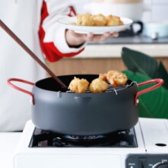 Kitchen Fryer Navy Blue Cabinets 厨房炸锅 型号 厨房炸锅型号 规格 京东 油炸锅厨房烹饪家用迷你小炸锅日式天妇罗不