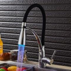 Led Kitchen Faucet Aid Toasters Led厨房水龙头 价格 Led厨房水龙头报价行情 多少钱 京东 全铜冷热水抽拉式厨房水龙头水槽洗菜盆弯曲龙头