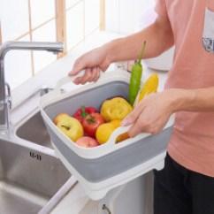 Kitchen Basket Cabinet Drawer Hardware 厨房水槽篮子 新款 厨房水槽篮子2018年新款 京东 创意折叠水槽洗菜篮子厨房收纳篮子洗水果蔬菜篮收纳筐塑料洗