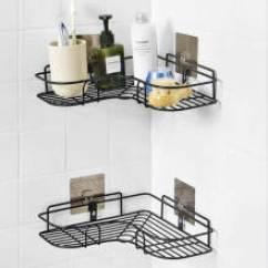Kitchen Corner Shelf How To Resurface Cabinets 厨房角式置物收纳架 价格 厨房角式置物收纳架报价行情 多少钱 京东 秉优免打孔转角置物架卫生间铁艺收纳架厨房三角架浴室