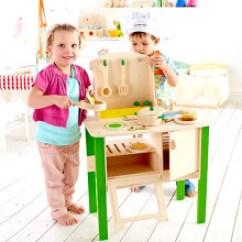 Hape Kitchen Free Standing Sink Unit Hape厨房 新款 Hape厨房2019年新款 京东 德国hape 过家家玩具大小厨房套装3 6岁儿童仿真角色