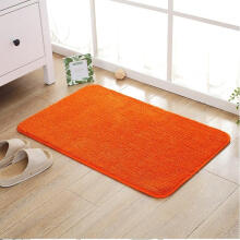 orange kitchen rug small renovation 橙色地垫 价格 橙色地垫报价行情 多少钱 京东 纯色卫生间门口防滑吸水地垫金黄色门厅入户垫子定制客厅大