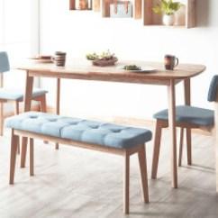 Bench For Kitchen Table Cabinets With Crown Molding 餐桌长凳 型号 餐桌长凳型号 规格 京东 Heywood 全实木餐桌椅组合北欧现代简约小户型饭桌多人长方形