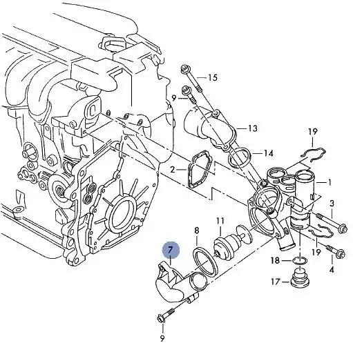 GENUINE VW GOLF BORA PASSAT 2.3 V5 AGZ THERMOSTAT