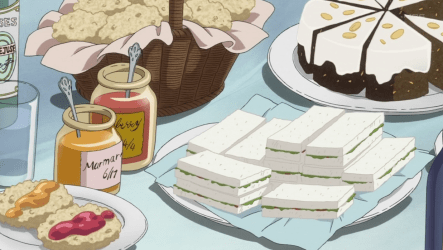 food anime picnic kuroshitsuji butler sweets recipes curry lobster illustrations cake tea looks yumeiro patissiere ve yummy aesthetic