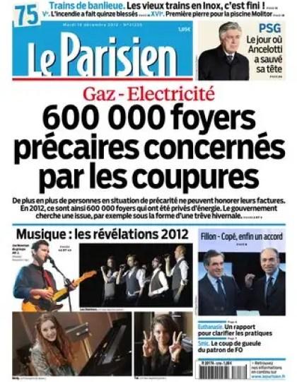 Le Parisien Mardi 18 Décembre 2012