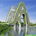 Torre Puente. Imágen cortesía de Vincent Callebaut Architecture