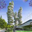 Torre de Cultivos desde el nivel de calle. Imágen cortesía de Vincent Callebaut Architecture