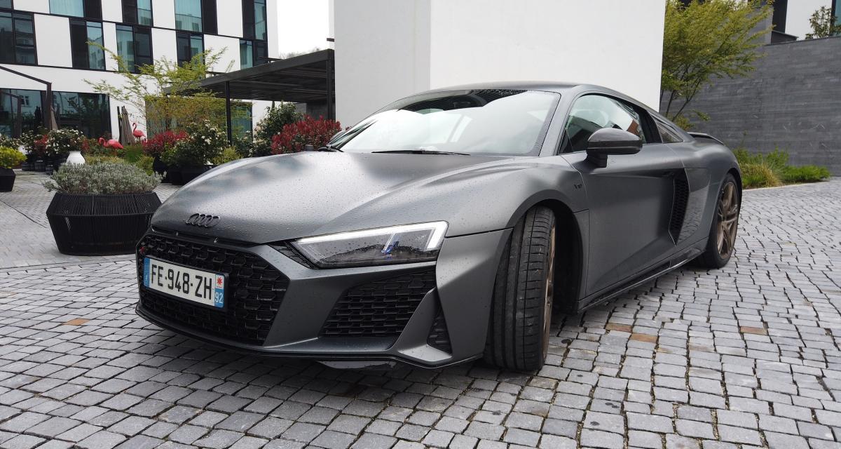 Audi R8 Coup restyle  notre essai complet de la GT  moteur V10