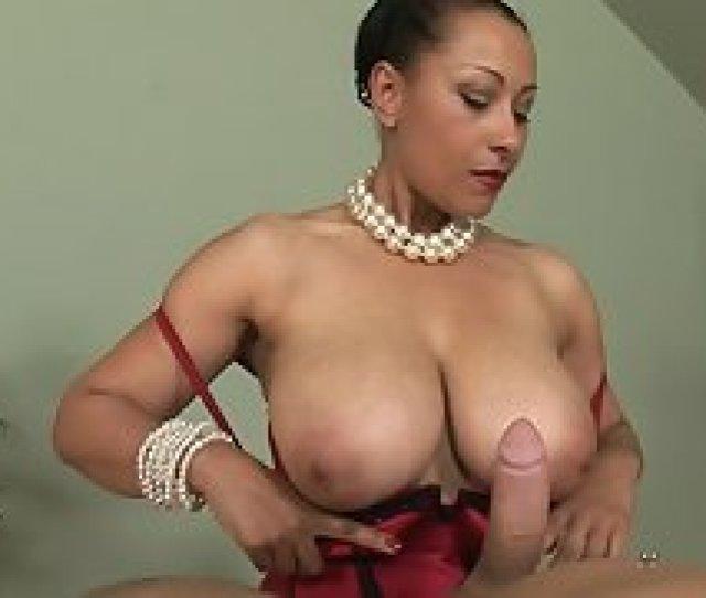 Ebony Gives Handjob
