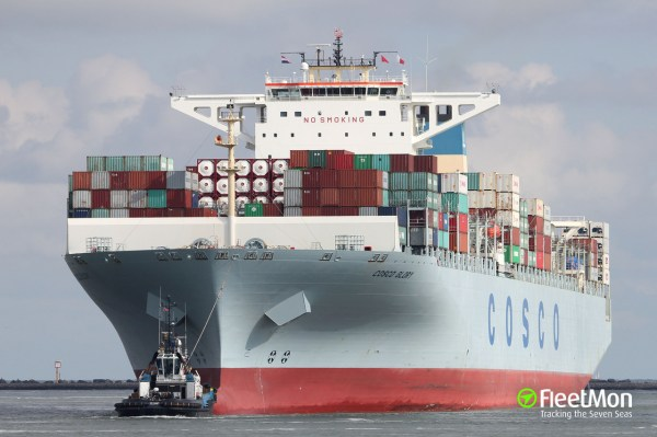 Cosco Glory Container Ship Imo 9466245 - Year of Clean Water