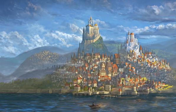 Cute Dog Wallpapers Fot Google Wallpaper City World Fantasy Art Fantastic Castle