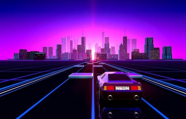 Vaporwave Retro Car Wallpaper Aesthetic Wallpaper Auto Music The City Neon Retro Machine