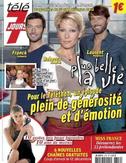 Télé 7 Jours N°2740 du 1er au 7 Décembre 2012
