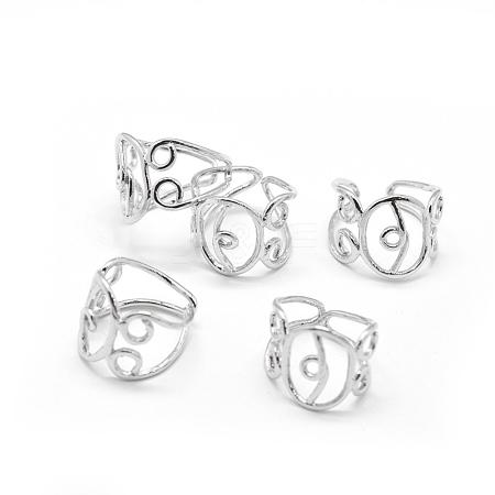 Wholesale Hollow Brass Ring Shanks, Filigree Ring Settings