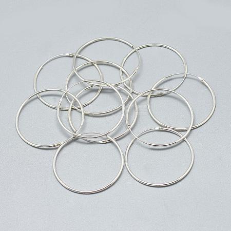 Wholesale 925 Sterling Silver Earring Hoop, Carved 925