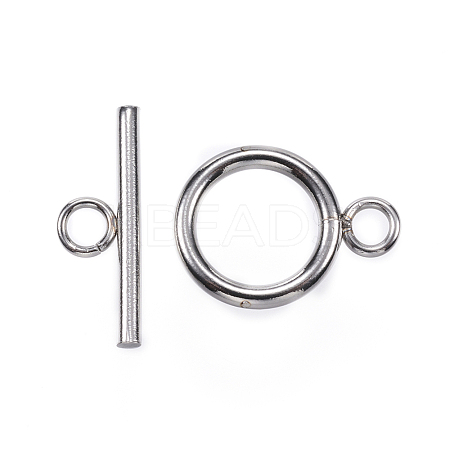 Wholesale 304 Stainless Steel Toggle Clasps, Stainless