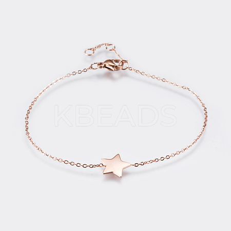 Wholesale 304 Stainless Steel Link Bracelets, with Lobster